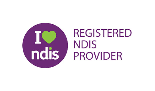 I love NDIS logo showing registered NDIS providers.